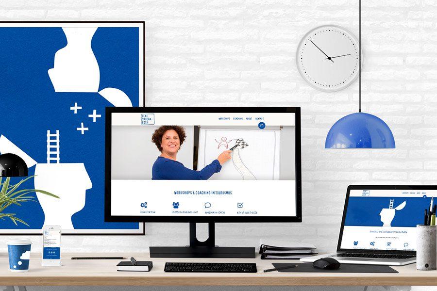Website zum Neustart mit Workshops & Coaching