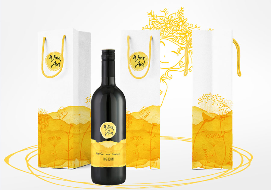 WineAid Packungsdesign