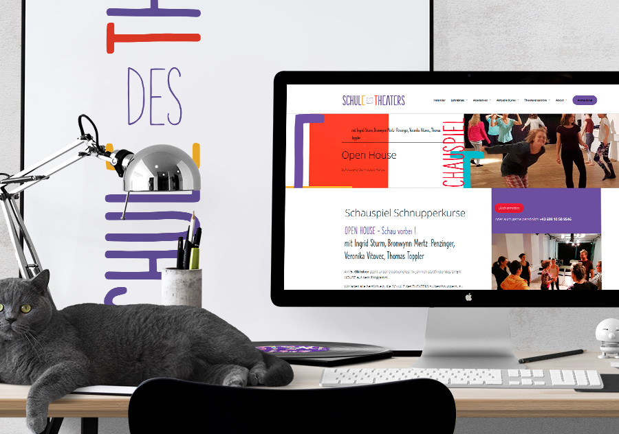 Redesign für den Webauftritt der Schule des Theaters