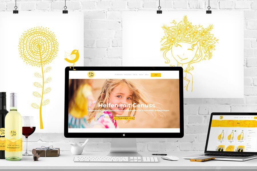 Neuer Webauftritt und Webshop für WineAid