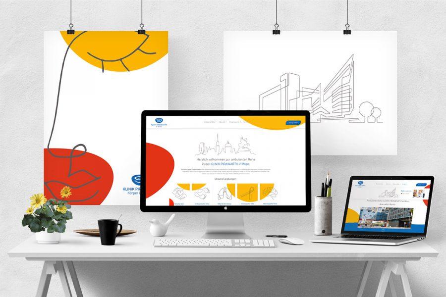 Webdesign für die Klinik Pirawarth in Wien