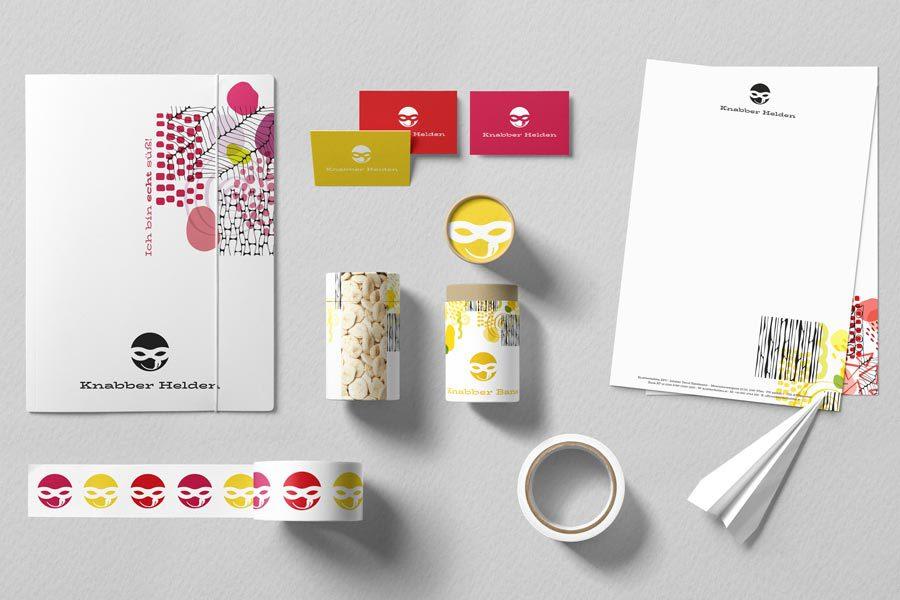Knabber Helden Markenentwicklung und Corporate Design