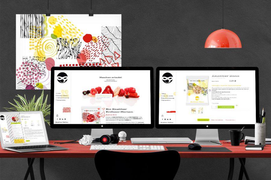 Knabberhelden Webdesign und Webshop