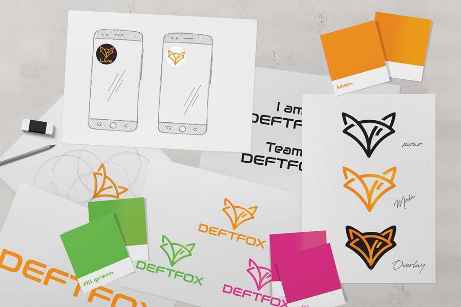 DeftFox Logo Redesign und Merchandise